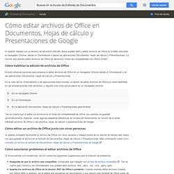 Modifier des fichiers Office dans GoogleDocs, Sheets et Slides - Centre d'aide ÉditeursDocs