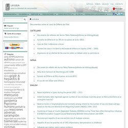 Documentos sobre el caso de Difteria de Olot - LA LIGA