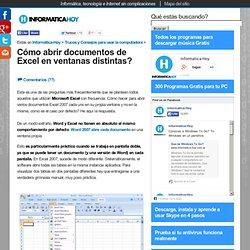 o abrir documentos de Excel en ventanas distintas?