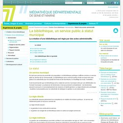 Statut & documents administratifs