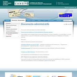 CANOPÉ Corse - Documents administratifs