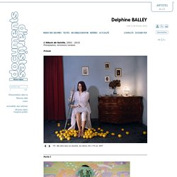 Documents D'Artistes Rhône-Alpes » Delphine BALLEY » Index des œuvres