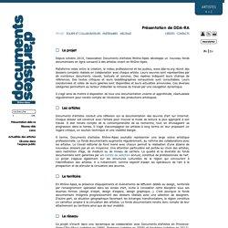 Documents D'Artistes Rhône-Alpes » Projet