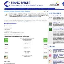 Exemples de documents authentiques et pistes de recherche