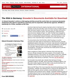 The Germany File of Edward Snowden Documents Available for Download