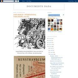 DOCUMENTS DADA: DADA-BERLIN : INTERNATIONAL DADA-MESSE, 1920 (II)