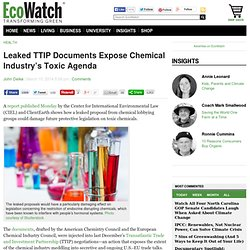 Leaked TTIP Documents Expose Chemical Industry's Toxic Agenda