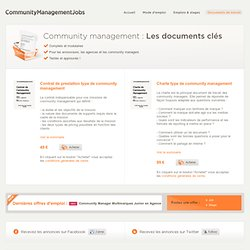 Documents de travail - Community Management Jobs