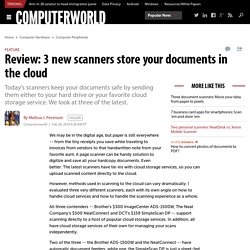 Review: 3 new scanners store your documents in the cloud