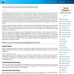 Documents Digitization Services