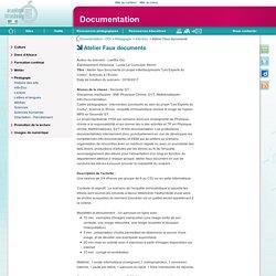 Atelier Faux documents - Documentation