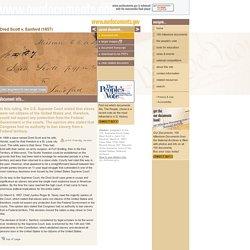 Our Documents - Dred Scott v. Sanford (1857)