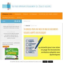 14 conseils pour une mise en page de documents scolaires adaptés aux dyslexiques