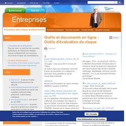 Outils et documents en ligne : Outils d'évaluation du risque
