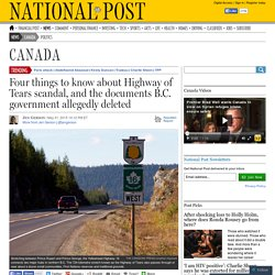 Four things to know about Highway of Tears scandal, and the documents B.C. government allegedly deleted
