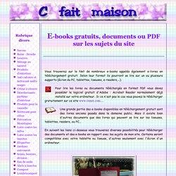 Documents, PDF et E-books gratuits sur les sujets du site.