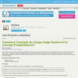 L'exemple du Congo Belge