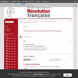 Documents sur l'insurrection de Saint-Domingue