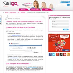 Comment trouver des documents juridiques sur le web ? - Fiche pratique Droit social, RH