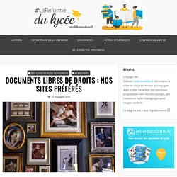 DOCUMENTS LIBRES DE DROITS : NOS SITES PRÉFÉRÉS