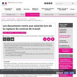Les documents remis aux salariés lors de la rupture du contrat de travail - Licenciement