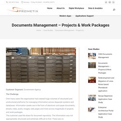 Documents Management – Projects & Work Packages