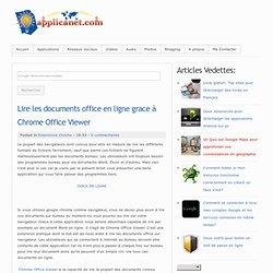 Lire les documents office en ligne grace à Chrome Office Viewer