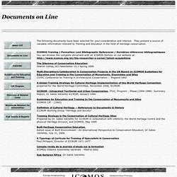 Documents on Line