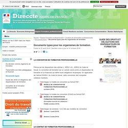 Documents types pour les organismes de formation - Direccte Hauts-de-France