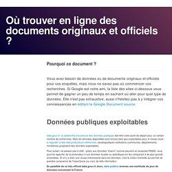 Où trouver en ligne des documents originaux et officiels ?