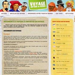 Check list des documents et papiers à emporter en voyage