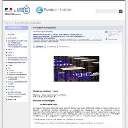 Documents pédagogiques - Français - Lettres
