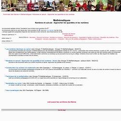 Documents pédagogiques - sommaire du thème