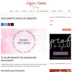 Documents pour les absents