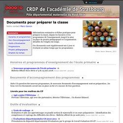 Documents pour préparer la classe