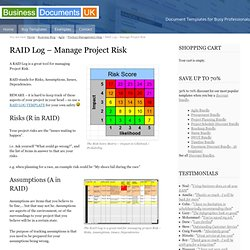 Competencies skills pearltrees for Project raid log template