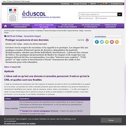 Espace B2i École- Collège : documents d'appui - Protéger sa personne et ses données