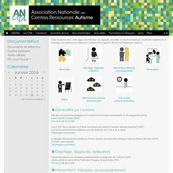 ANCRA - Documents de référence autisme