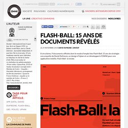 [2010] Flash-Ball: 15 ans de documents révélés ? Article ? OWNI, Digital Journalism