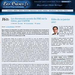» Les documents secrets du FMI sur la Grèce, par CADTM