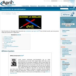 (APRIL) => PDF - Documents de sensibilisation LOGICIEL LIBRE