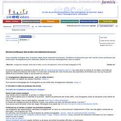 Devenir professeur des écoles (recrutement-concours)