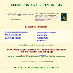DOCUMENTS des souffleurs EJMA
