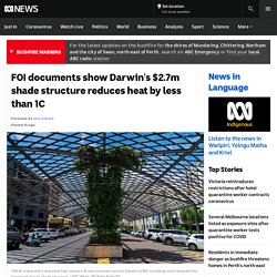 FOI documents show Darwin's $2.7m shade structure reduces heat by less than 1C
