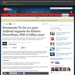 Documents To Go 2.0 pour Android supporte les fichiers PowerPoin