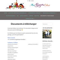 Documents à télécharger – Mon Bazar Coloré