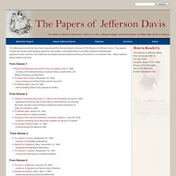 Documents : Rice University The Papers of Jefferson Davis
