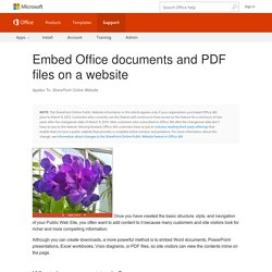 Embed Office documents and PDF files on a website - SharePoint