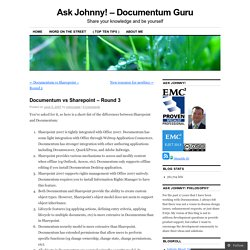 Documentum vs Sharepoint – Round 3