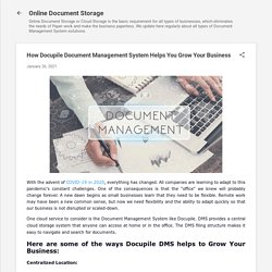 How Docupile Document Management System Helps You Grow Your Business